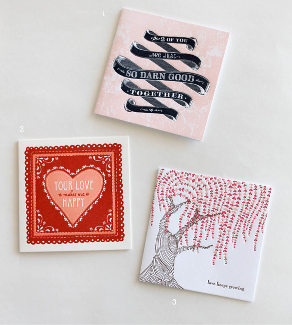 letterpressed sustainably printed eco friendly willow tree pink and red ribbon banner calligraphy