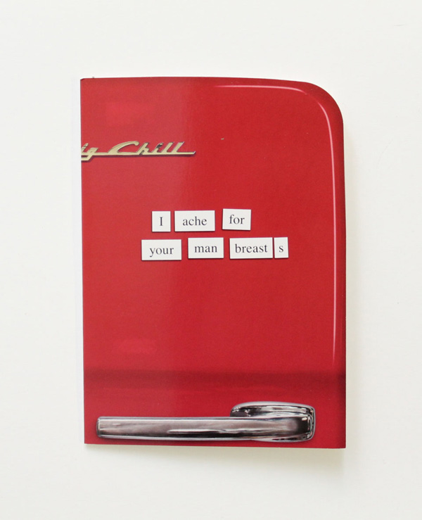 humor funny red retro refrigerator magnet words man breasts valentine's day denver
