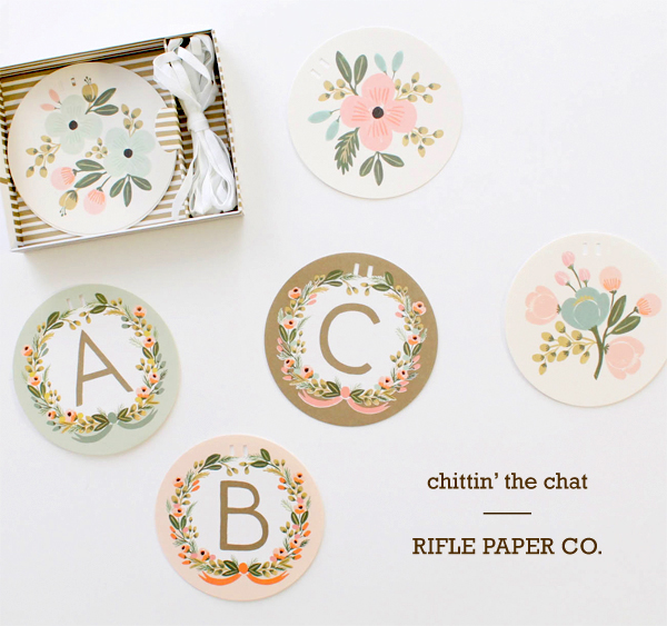 hand illustrated flower alphabet garland