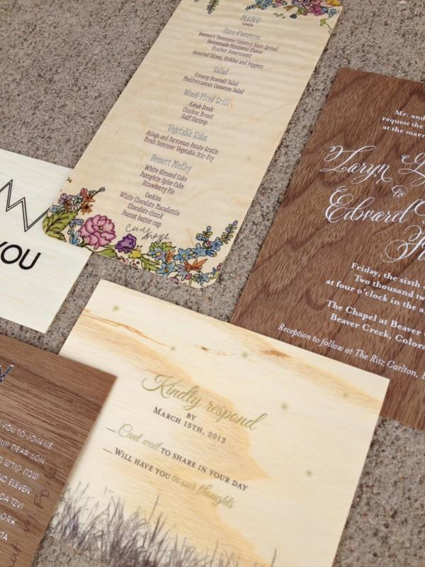 save the date wood grain mountain wedding script typography calligraphy denver colorado rustic denver