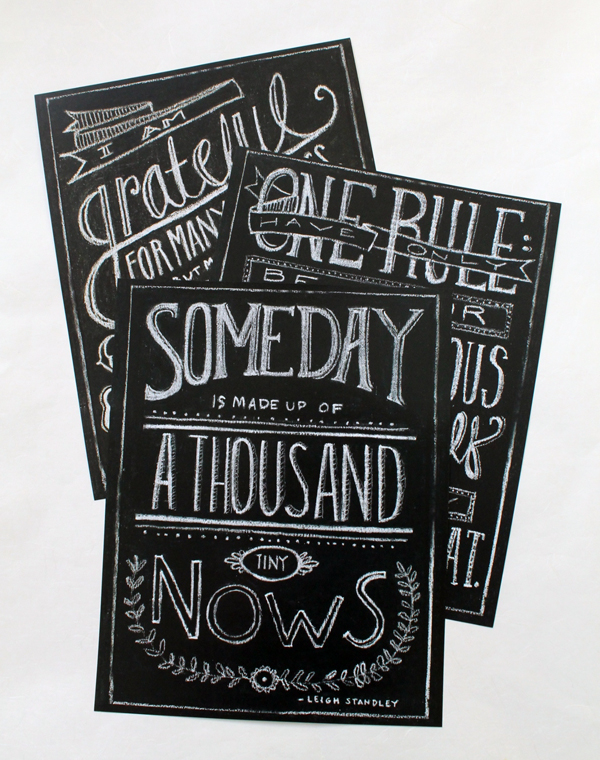wordshop denver paperie script and typography in chalk on chalkboard poster quote words of wisdom good words