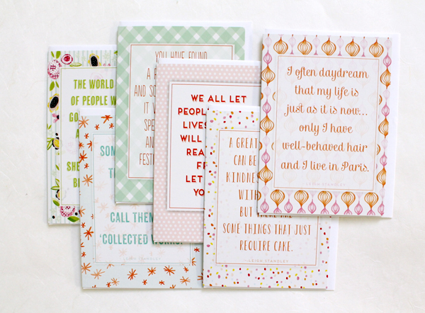 floral and typography funny and cute greeting cards in denver at wordshop