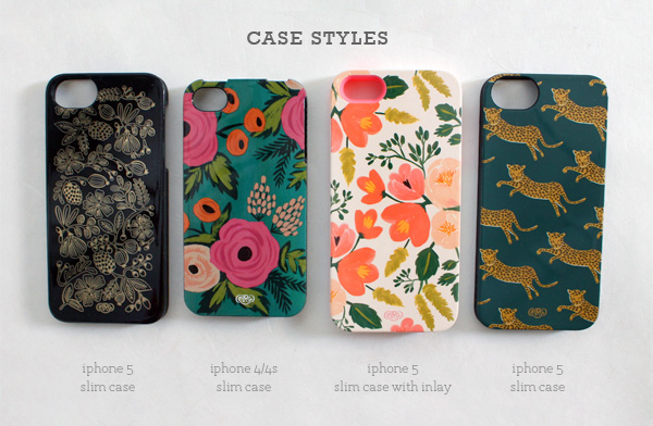 rifle paper co. iphone case styles