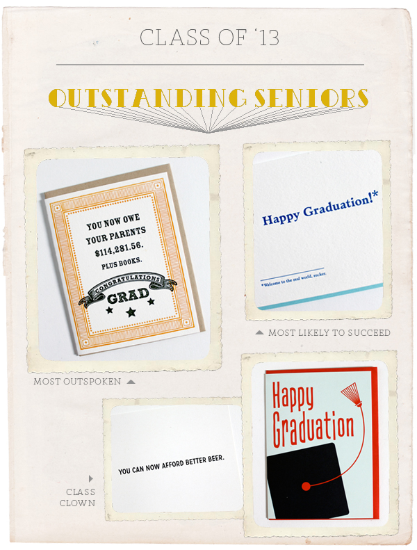 humor graduation cards letterpressed cards best of class