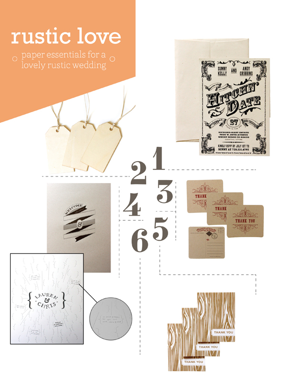 rustic wedding paper essentials
