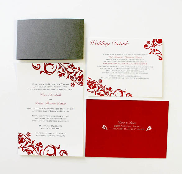 Colorado Wedding Invitations
