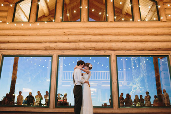 Log Cabin Rustic Wedding