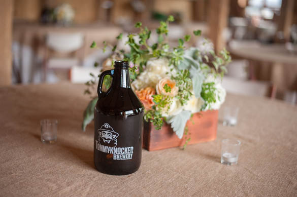 Vintage Beer Jug Centerpiece Table Name