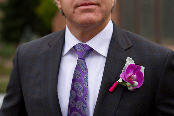 colorful boutonniere - denver florist