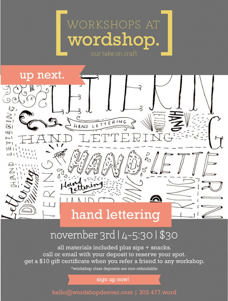 Hand Lettering Workshop in Denver