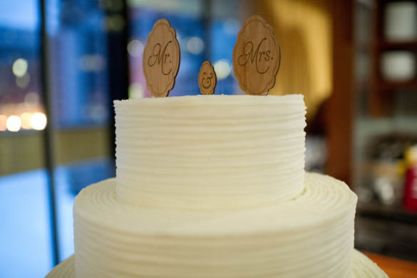 Mr. & Mr. Wood Wedding Cake Topper