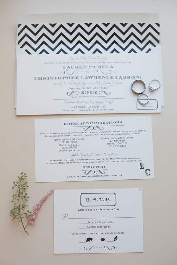 Art Deco Invitations With Modern Twist