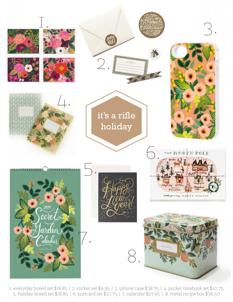 Holiday Gift Guide for Paper Enthusiast | Rifle Paper Co via Wordshop