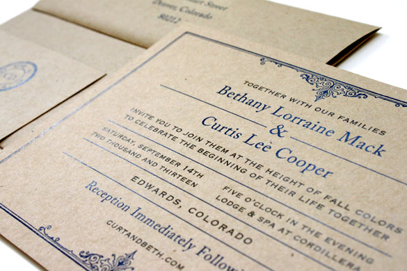 Rustic Chic Invitations