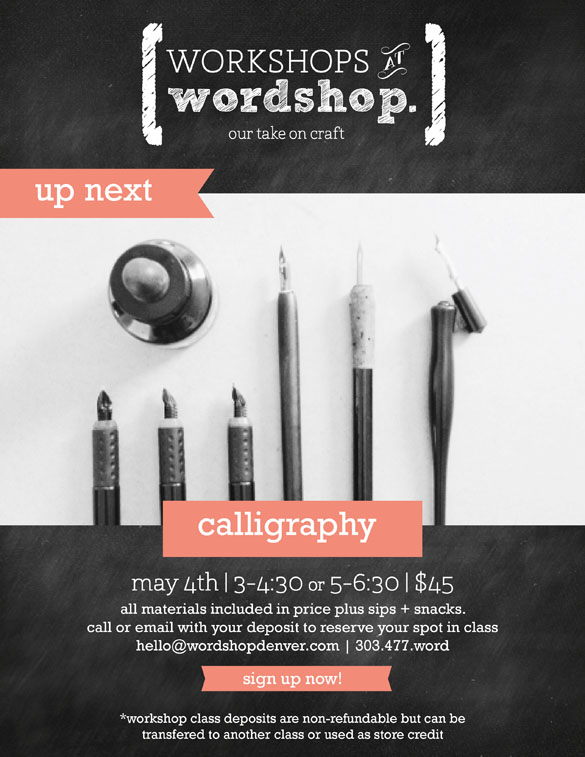 Calligraphy Class in Denver Colorado