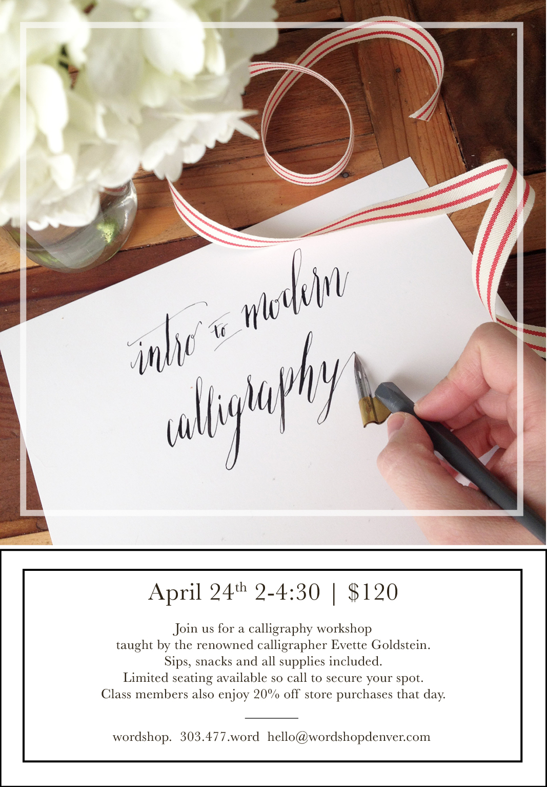 Calligraphy Workshop in Denver