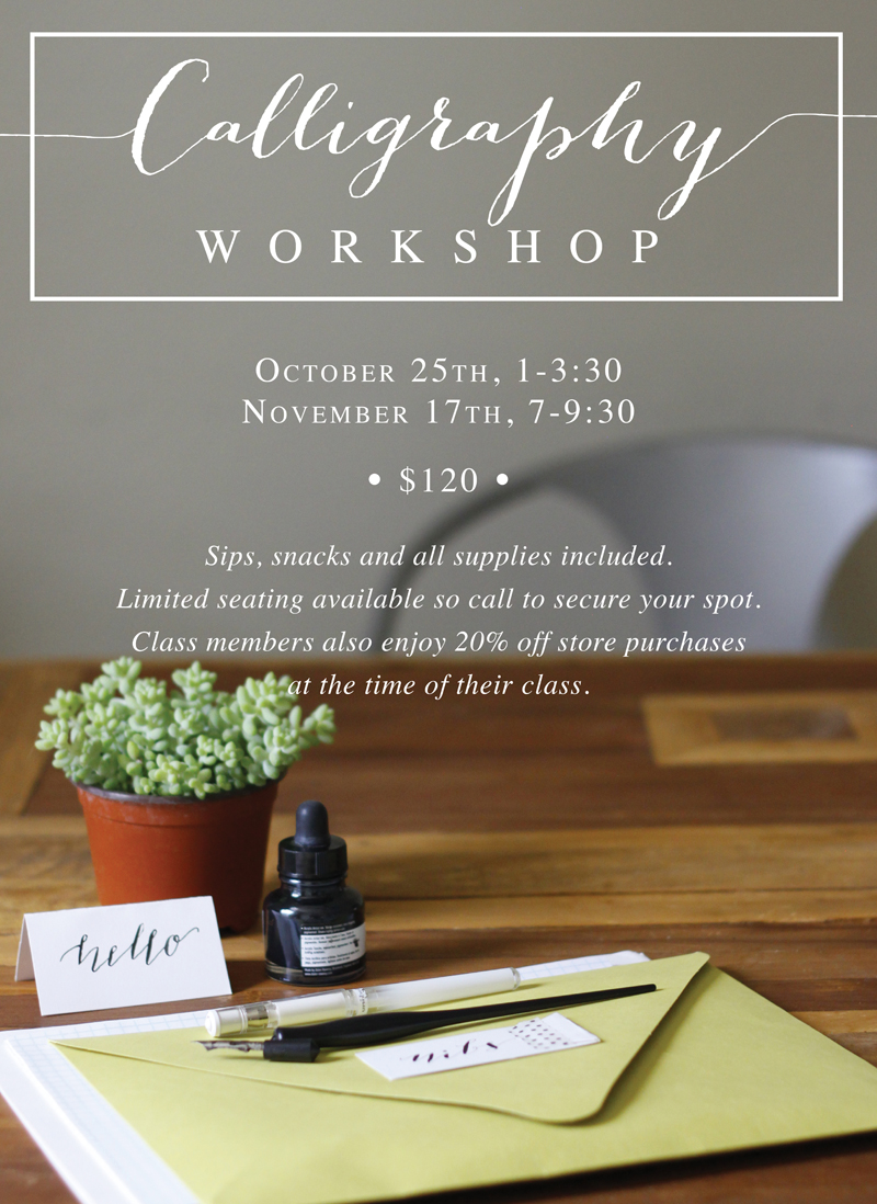 Denver Calligraphy Classes | Calligraphy Workshop