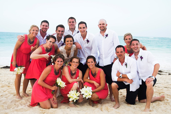 Beach Wedding Party Colors