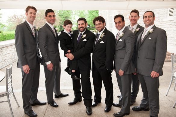 Grey Groom Wedding Suits