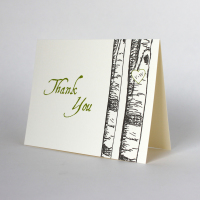 Custom Aspen Tree Thank You Notes