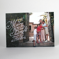 Script Holiday Photo Card