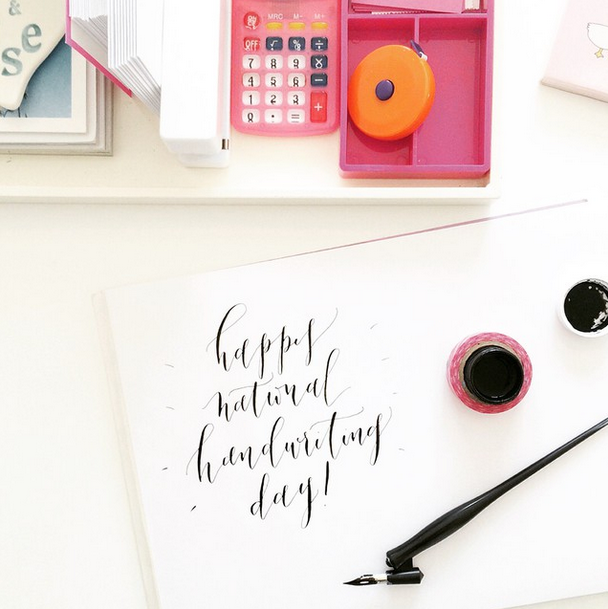 Lauren Essl Calligraphy Handwriting Day