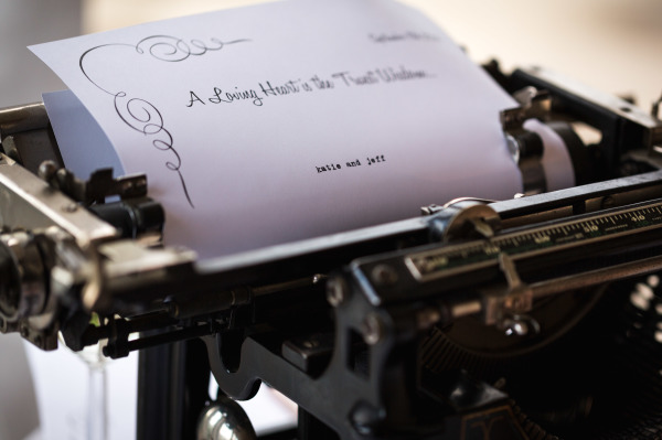 Vintage Wedding Typewriter