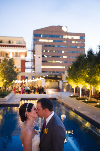 Four Seasons Hotel Pool Deck Wedding