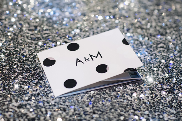 All-In-One Sparkle Dot Wedding Invitations