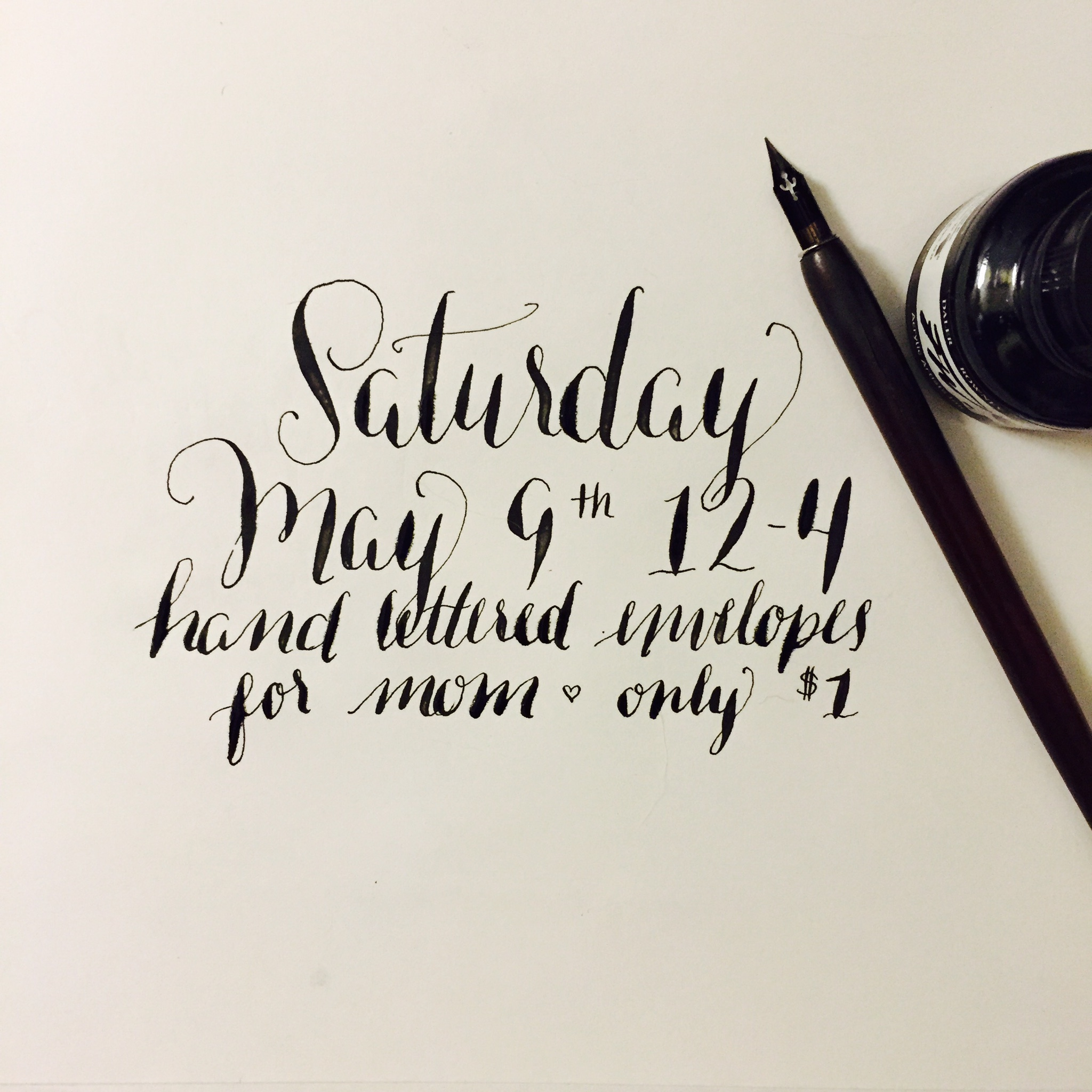 Denver Modern Calligraphy for Mother's Day