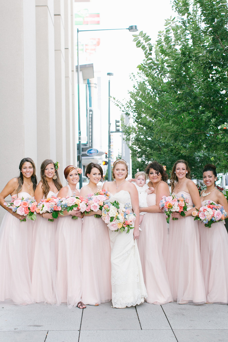 Denver Blush Bridesmaid Dresses