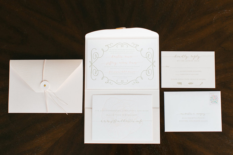 Denver Letterpress Wedding Invitations
