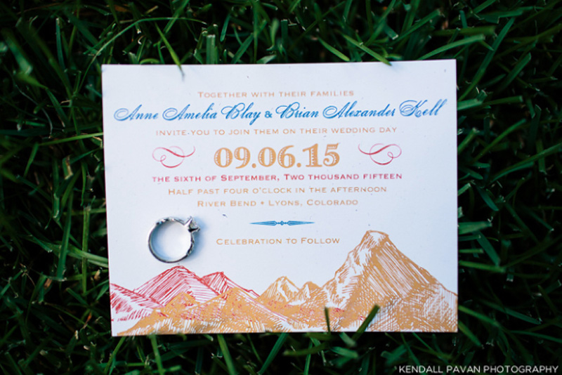 Colorful Mountain Wedding Invitations