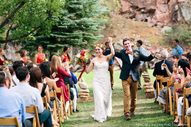 Outdoor Colorado River Wedding