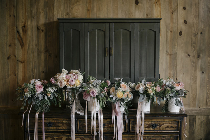 Love the wedding flowers at Colleen + Matthew's Devil's Thumb Ranch Colorado Wedding