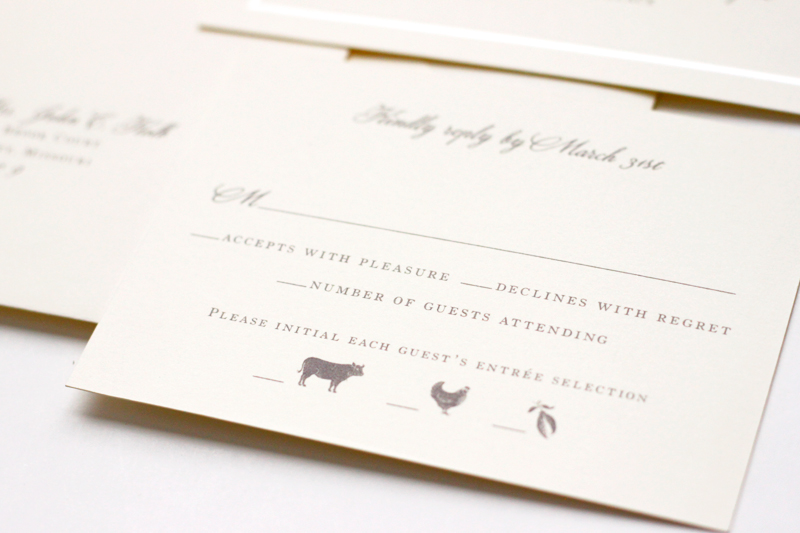 classic and sophisticated embossed wedding invitations
