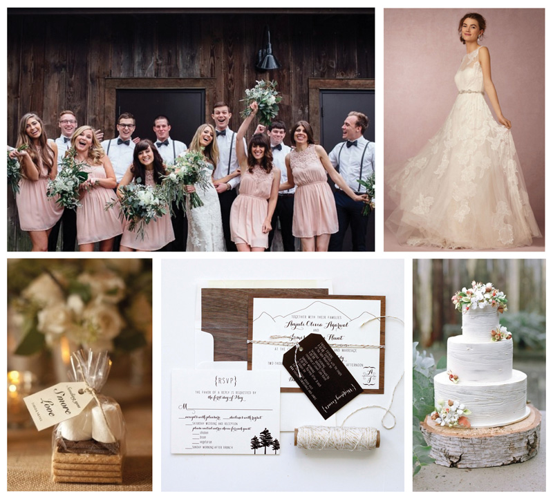 Colorado Woodsy Rustic Wedding Inspiration