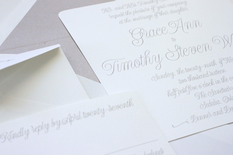 Traditional Classic Mountain Wedding Invitations | via wordshop